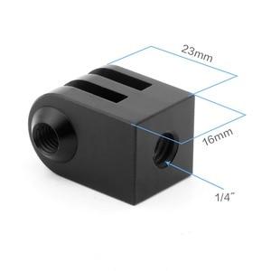 Image 2 - Cnc Aluminum Alloy Mini Tripod Mount Outdoor Sports Camera Base Adapter For All 1/4 Inch Screw Monopod Accessory