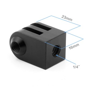 Image 2 - Cnc алюминиевый сплав мини штатив крепление для наружной спортивной камеры Базовый адаптер для всех 1/4 дюйма Винт монопод аксессуар