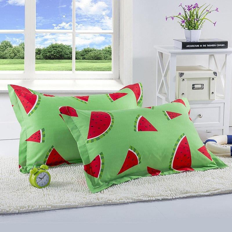 1 St 48 Cm * 74 Cm Fruit Print Cartoon Kussenslopen Sunshine Watermeloen Banaan Kussen Gevallen Zachte Thuis Textiel Beddengoed Gebruik 50