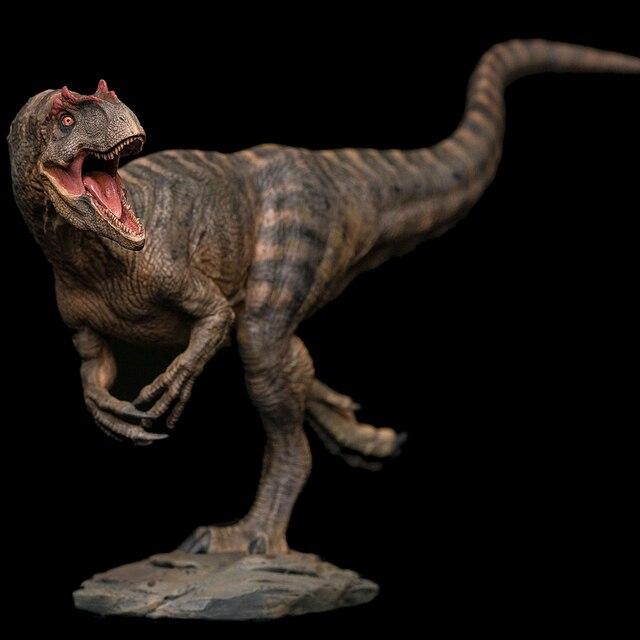 Tigre grão colorir 2019 Produzido Prehistoric Mundo Jurássico Allosaurus Enfeites de Presente Modelo de Brinquedo 1:35