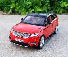 1:32 skala licencjonowana kolekcja Model samochodu dla Range Rover Velar Diecast Alloy Metal luksusowy SUV Off Road dźwięk i zabawki podświetlane pojazdu