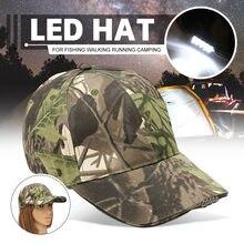 LED Headlamp Baseball Cap Light 5LED Torch Camouflage Hat With LED Head Light Flashlight For Bicycle Night Fishing Running(China)