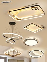 Led Indoor Combo Ceiling Lights For Bed Room Living Room Dining Luminarias Para Dimmable Remote Control AC85 260V Free Shipping