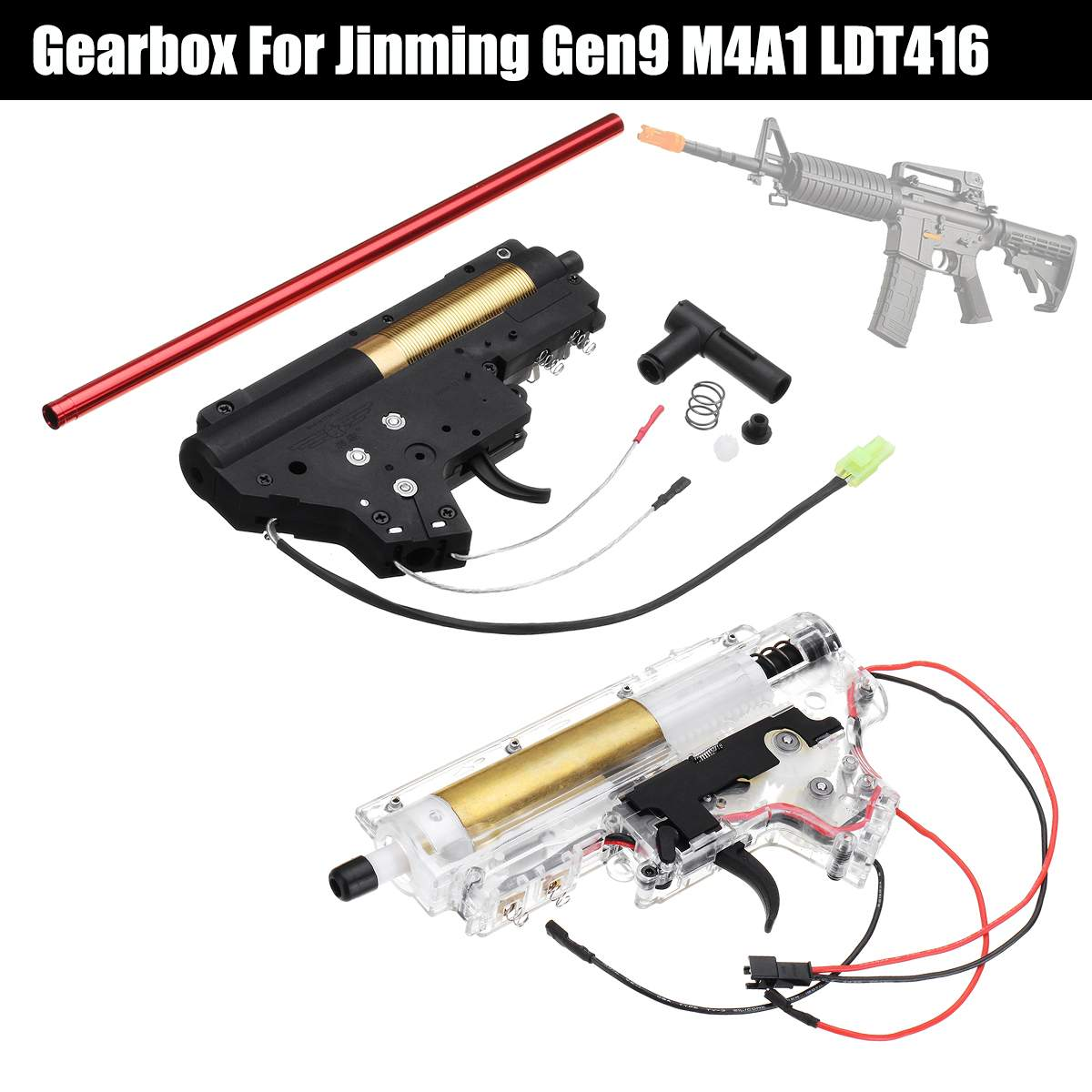 Upgrade Nylon No.2 Gearbox For JinMing 9th Gen9 M4A1/LDT416 Gel Ball For Blaster Toy