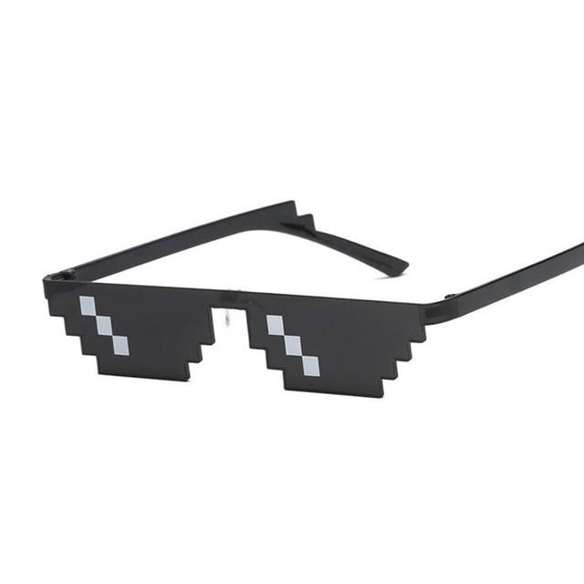 Glasses 8 Bit MLG Pixelated Sunglasses Women Men Brand Thug Life Party Eyeglasses Ladies Vintage Female Male Eyewear
