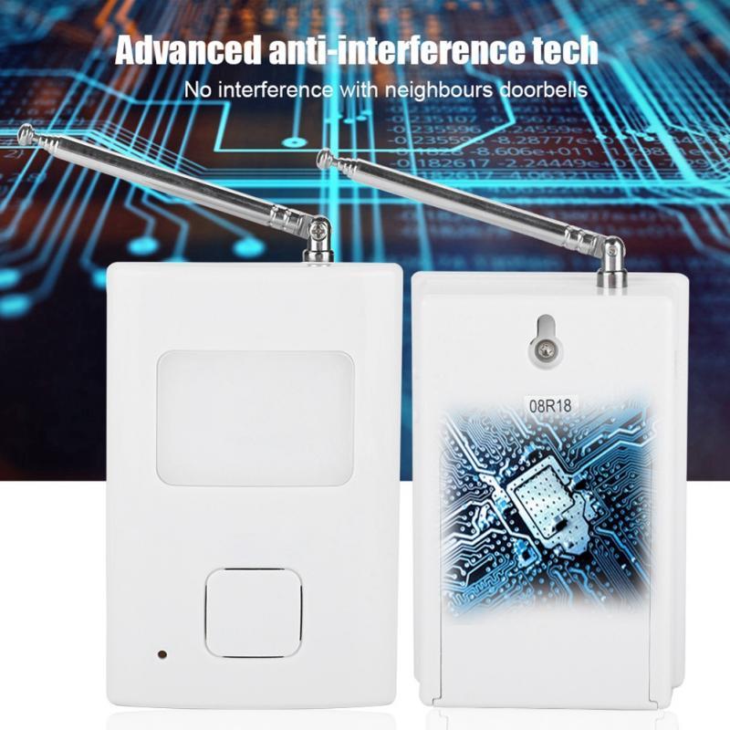 Wireless WIFI Doorbell Electronic Button Waterproof Remote Door Bell Sounds Dog Barking Doorbell Push Button Bell Transmitter-2