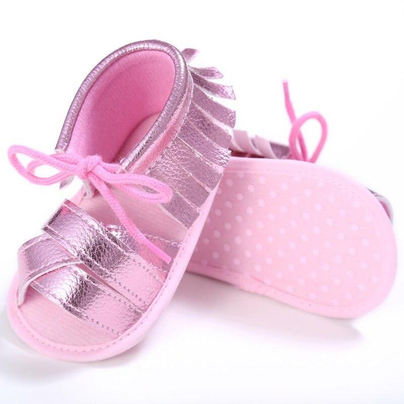 Toddler Baby Girl Boy Sandals Summer Kid Tassel Shoes Princess Toddler First Walkers Children Clogs Prewalkers