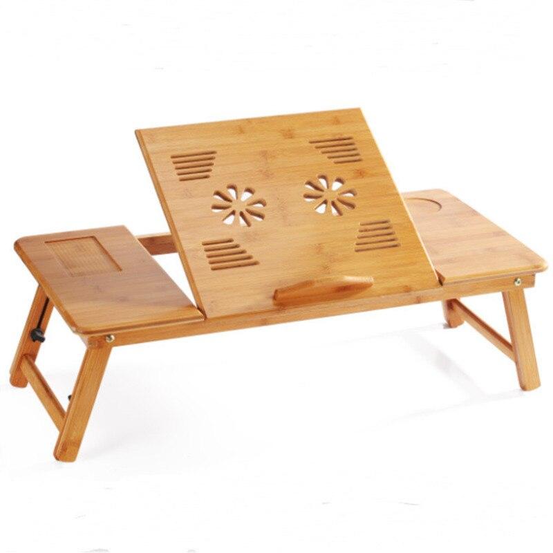 Magique Union Portable pliant bambou Table d'ordinateur Portable canapé-lit maison support d'ordinateur Portable ordinateur Portable ordinateur Portable bureau lit Table à manger grande taille