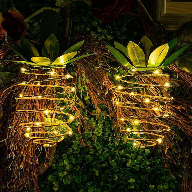 Garden Solar Lights Outdoor Decor Pineapple Solar Path