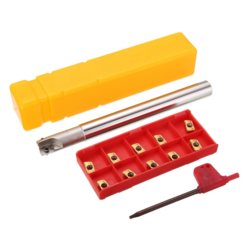 1Pc 150Mm Shank Lathe Turning Tool Holder 300R C14 14 150 Boring Bar 10Pcs Apmt1135Pder Inserts With T8 Wrench in Lathe from Tools