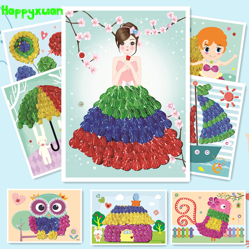 Happyxuan 3pcs Shell Painting Set Kids Diy Art And Crafts Kit