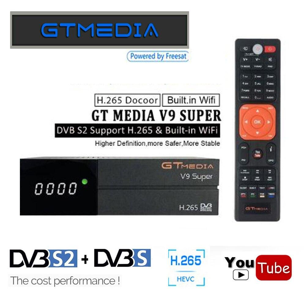 GTmedia V9 Super Mieux que Freesat V8 Super V8 NOVA H.265 DVB-S2 Satellite Récepteur Récepteur Numérique TV Box Année Cline décodeur