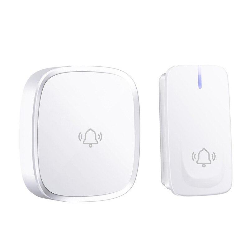 No Battery Need Wireless Doorbell Waterproof Smart Door Bell Cordless Ring Doorbells Remote Ac 110V-220V(Us Plug)