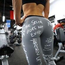 Yoga Pants Sport Leggings Women Fitness Gym Tights S-XL Love Squats 3D Printing Elastic High Waist Running