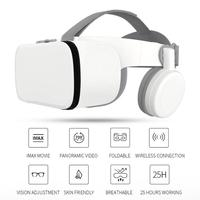 Anti Blue VR Box Z6 Bluetooth VR Virtual Reality Headset 3D Glasses VR Glasses Mobile Games Audio and Video Dedicated