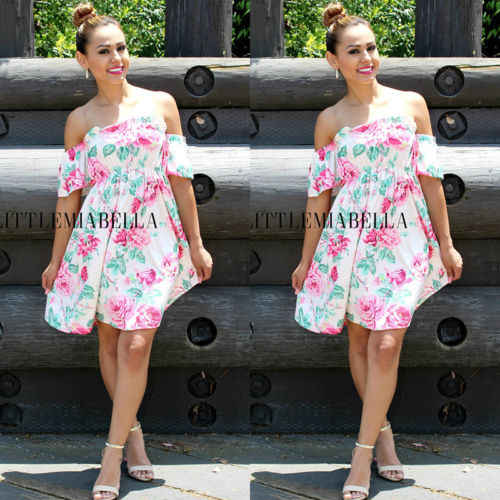 c444075e8 ... 2019 Fashion Flower summer Family Matching Dresses Mother Daughter  dress Baby Girl Mommy and me Clothes ...