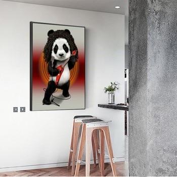 Huacan 5D Diamond Embroidery Painting Cross Stitch Animal Panda Full Square Picture Rhinestone Diamond Mosaic