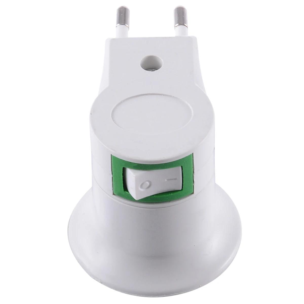 E27 LED Lamp Bulb Socket Base Holder Converter Adapter Socket With On//Off Switch