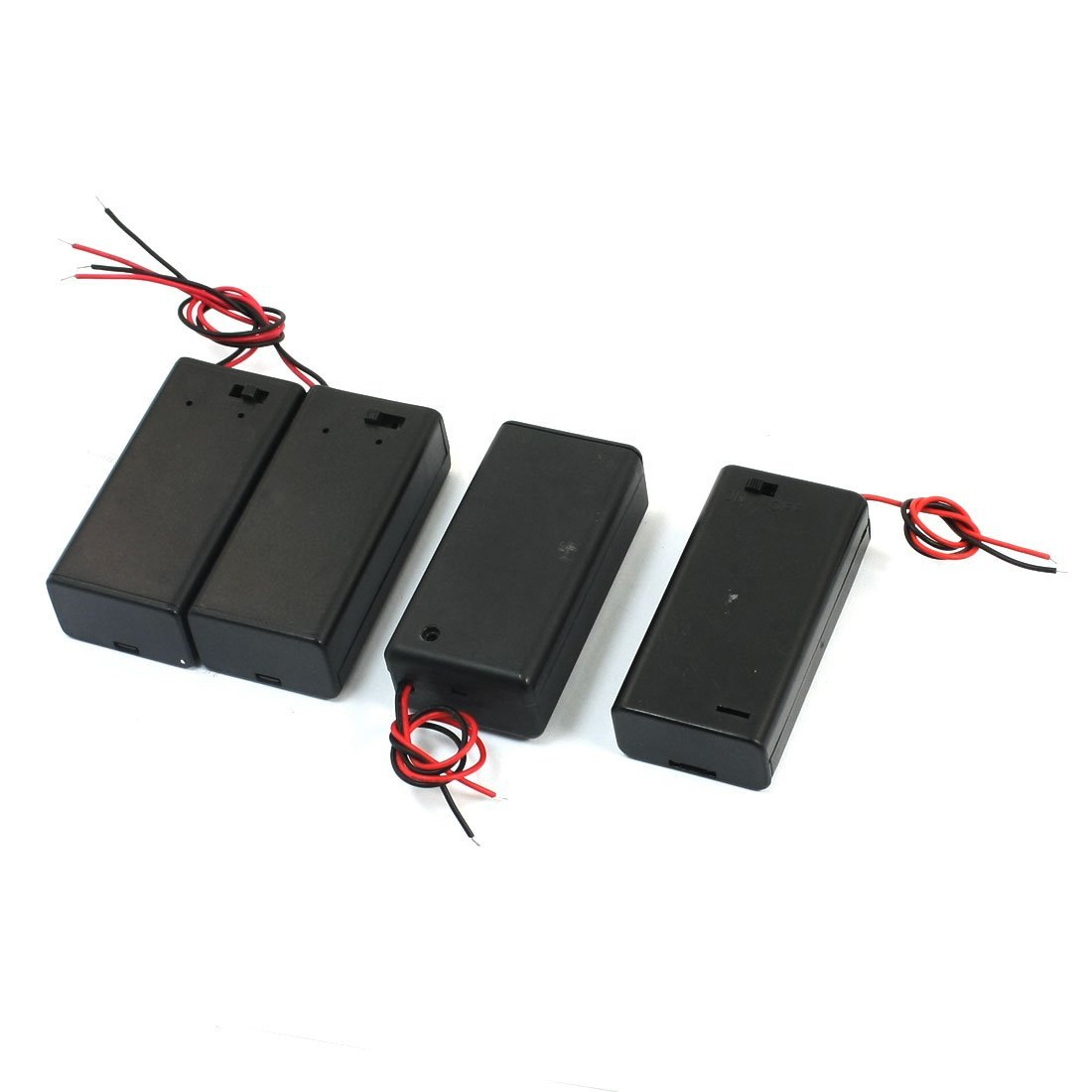 Consumer Electronics Battery Storage Boxes Aggressive Ffyy-4pcs On/off Switch 1 X 9v Battery Case Holder Leads Black W Cap Distinctive For Its Traditional Properties