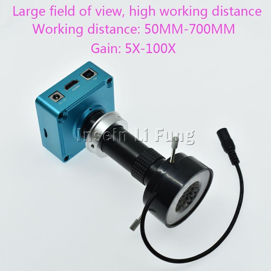 Full HD 28MP 1080P HDMI USB Digital Video Microscope Camera 130X 180X 300X 400X 600X Adjustable