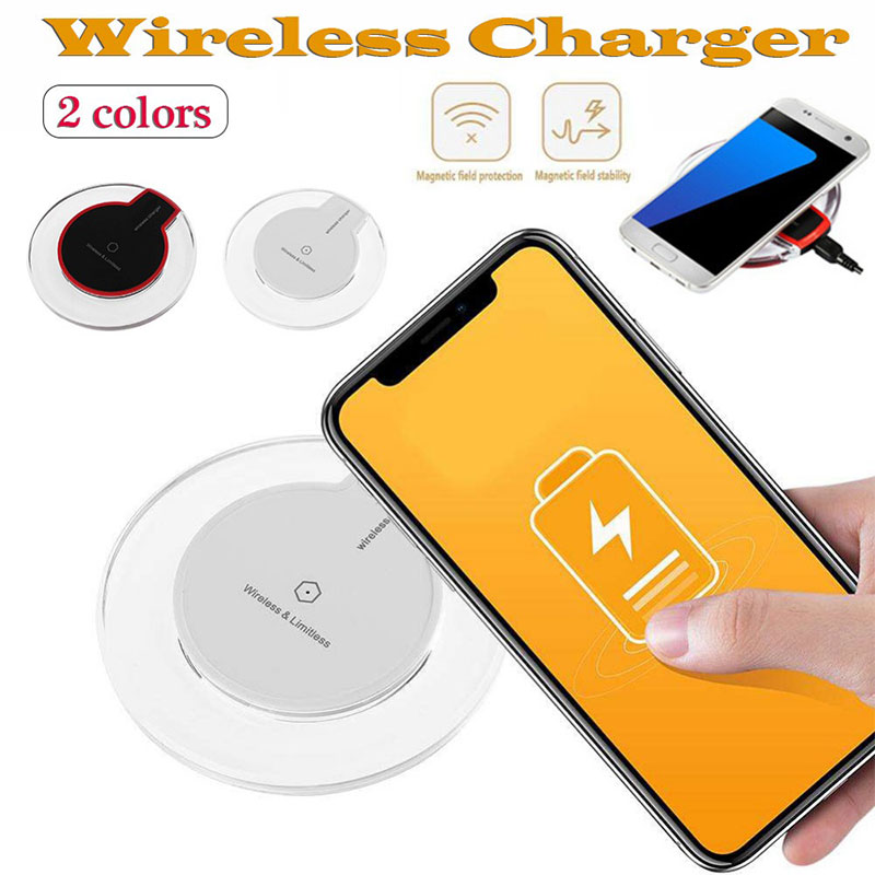 5W Wireless Charger Ultra Thin LED Qi Wireless Charging Pad For iPhone XS X 8 Plus Samsung Huawei Mate 20 Pro Charge in Wireless Chargers from Cellphones Telecommunications