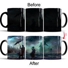 Волшебная кофейная кружка cthulhu чашки меняющие цвет создает