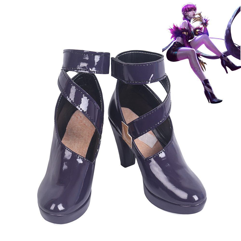 LOL League of Legends KDA Evelynn Cosplay Shoes Women Boots