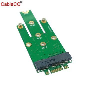 Xiwai  50mm Mini PCI-E 52Pin mSATA SSD to M.2 NGFF B-key Adapter Add on Cards PCBA цена 2017