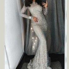 MUXU silver sequin long dress vestidos sexy party dresses robe femme bodycon ropa mujer elbise sleeve jurken