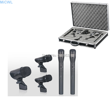 Stage Performance 1 Bass drum 2 Snare drum Dynamic 2 Condenser Microphone Cardioid Music instrument recording Microphones Mic high performance miniature condenser vertical microphone super cardioid mic set for choir group chorus studio stage 1 7m height