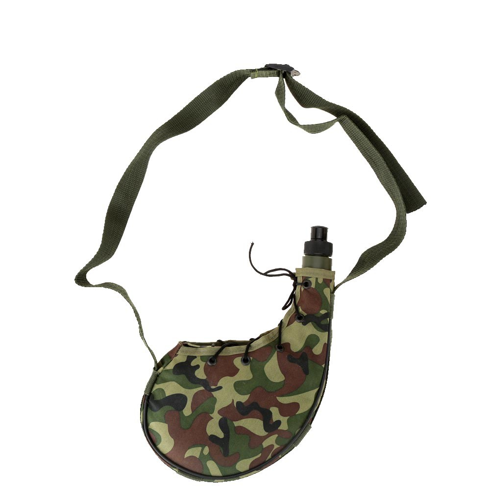 800ml Outdoor Sports Camping Camouflage Water Bottle Canteen