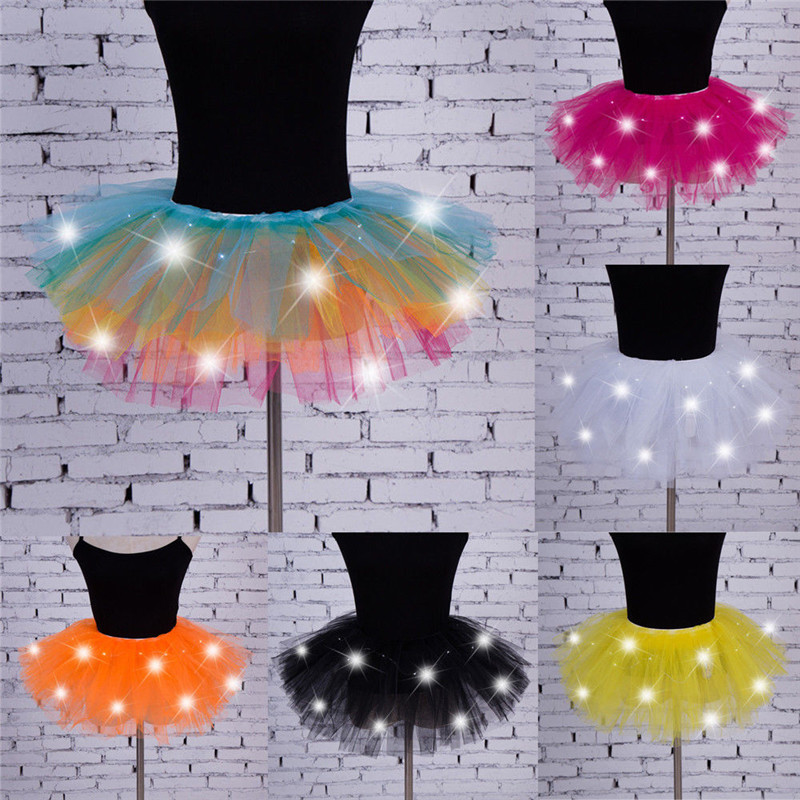 2019 Newest Women Girls Led Light Up Tulle Tutu Skirts Fancy Hen Party Halloween Costume Players Mini Skirt Vestidos To Win A High Admiration And Is Widely Trusted At Home And Abroad.