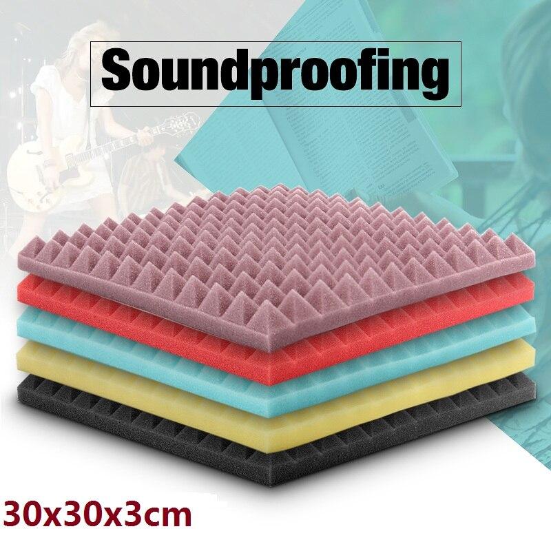 1 PC 30 X 30 X 3cm SoundProofing Acoustic Foam Treatment Sound-absorbing Cotton Noise Sponge Excellent Sound Insulation
