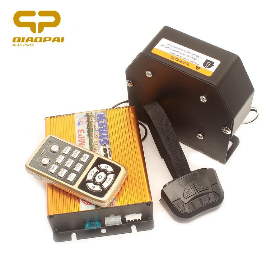 Multi Tone Alarm Horn Musical MP3 Play Police Car Siren Megaphone Loud Speaker 200W for Truck Horn Train 12V SUV VW PA Systems стоимость