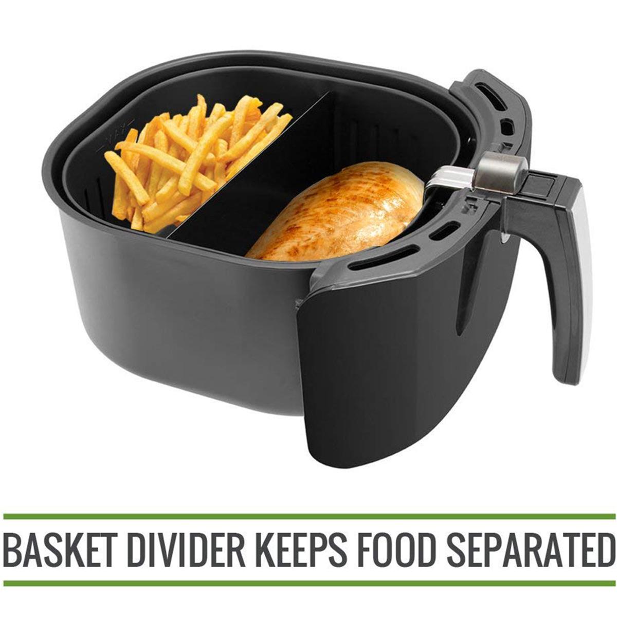 XL Air Fryer Cooking Divider Compatible with 9 inch Air Fryer Baskets Air Fryer Basket Divider Keeps Food SeparatedXL Air Fryer Cooking Divider Compatible with 9 inch Air Fryer Baskets Air Fryer Basket Divider Keeps Food Separated
