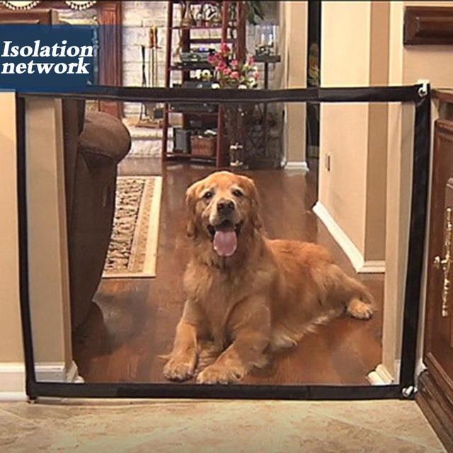 Dropshipping כלב שער הגאוני רשת קסם שער מחמד לכלבים בטוח משמר ולהתקין לחיות מחמד כלב בטיחות מארז כלב גדרות