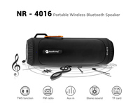 Wireless Stereo Audio Home Car Bluetooth Speaker with LED Light TWS Outdoor Portable Music Player USB FM Radio TF Aux in Black