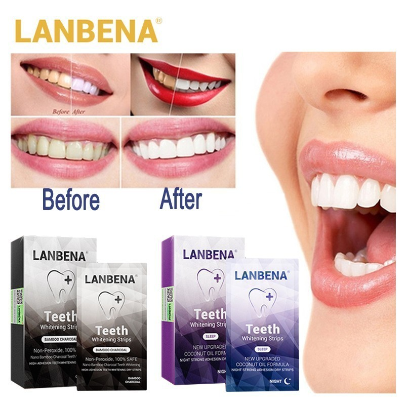 Oral Hygiene Lanbena Teeth Whitening Strips Bamboo Charcoal Night Oralhygiene Teeth Veneers White Removes Plaque Stains12 Pairs Oral Care Beauty & Health