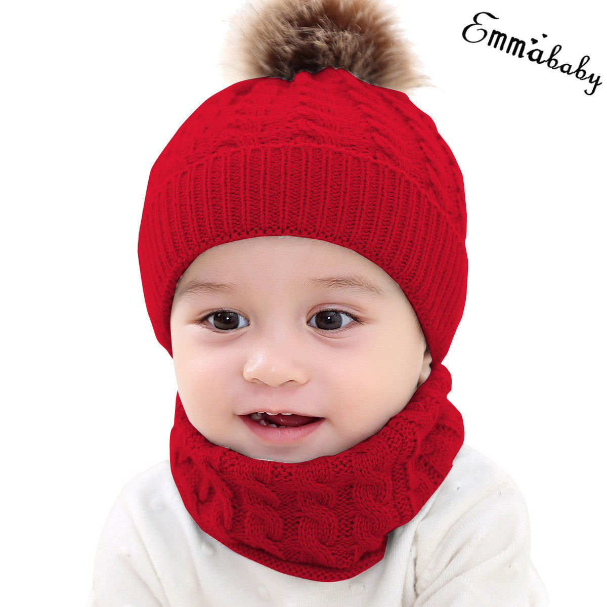 710263c68678 Brand Newest Baby Boy Girl Knit Girl Winter Warm Soft Hat Toddler Kid Beanie  Crochet Cap