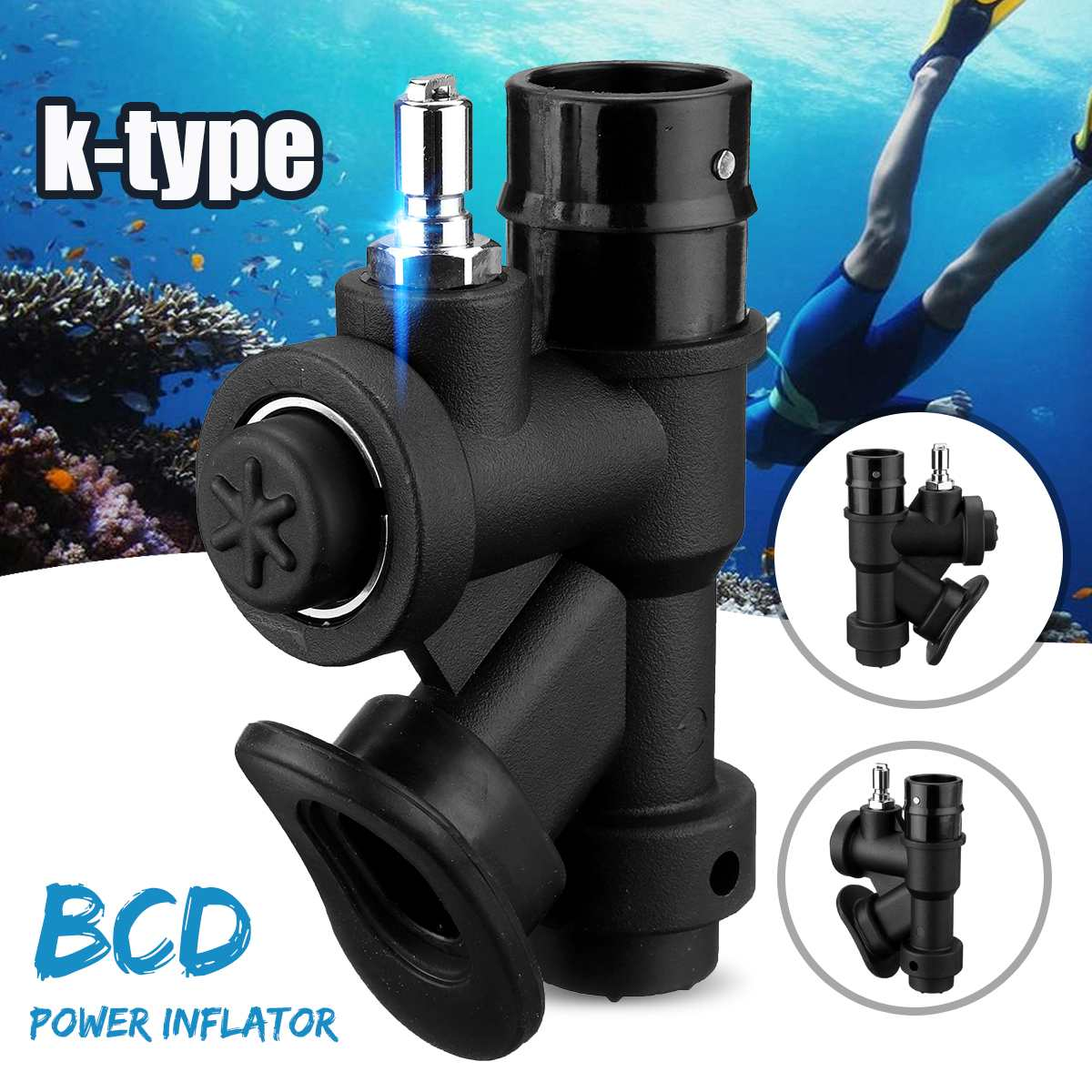 Diving Scuba Diving Universal BCD Power Inflator K-type Valve Snorkeling For Underwater Breathing Device Accessories
