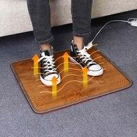 60W 220V 3 boyutları ofis ısıtma ayak Mat isıtıcı deri elektrikli isıtma pedi sıcak ayaklar termostat halı ev ısınma araçları