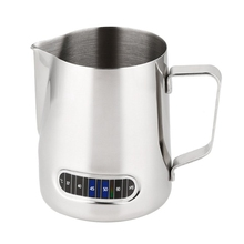Practical Boutique Milk Frothing Pitcher With Thermometer Stainless Steel 600ml Coffee Frothing Jug Home Kitchen Milk Cup