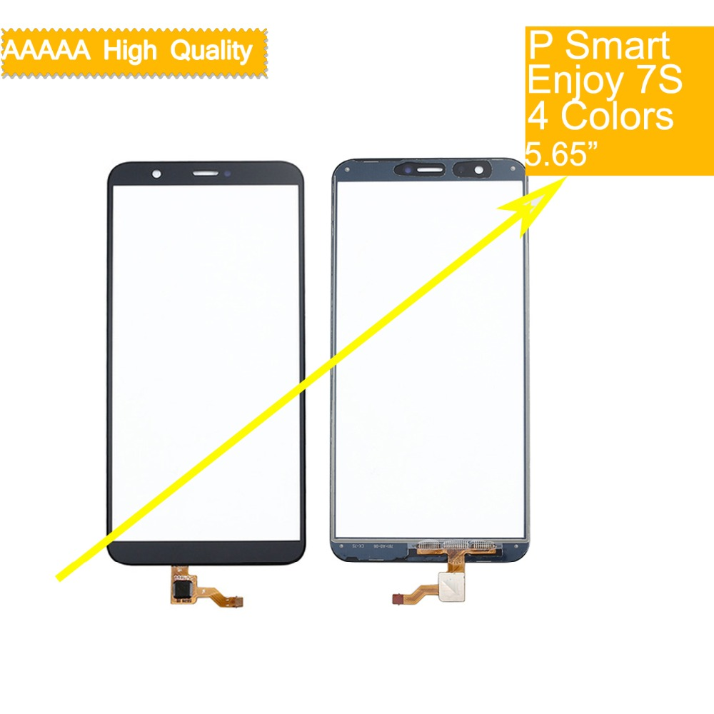 10Pcs For Huawei P Smart FIG-LX1 LX2 FIG-L21 FIG-L22 Enjoy 7S Touch Screen Touch Panel Sensor Digitizer Front Glass Touchscreen