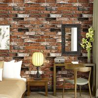 Romantic 3D Stereo Brick Wall Sticker Culture Brick Hotel KTV Hotel Wallpaper Home Decoration Non Woven Mysterious Art Red Black