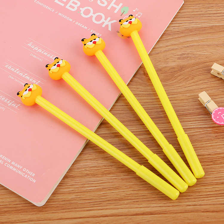 Ellen Brook 1 Piece Korean Stationery Kawaii Cute Moustache Cat Pen Advertising Creative School Office Supplies Gel Pens Gift