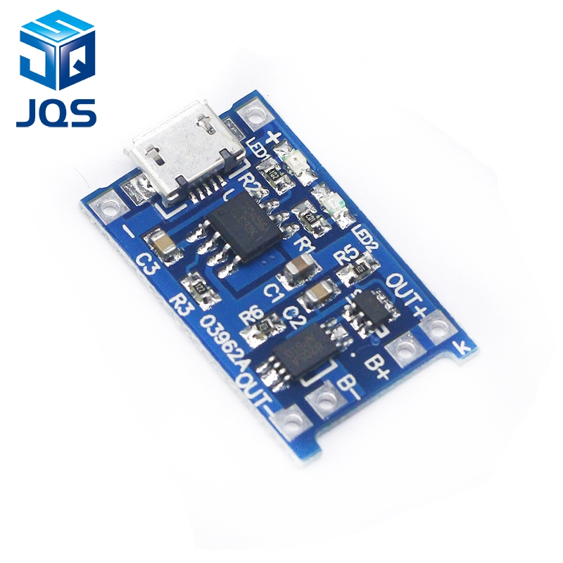 10pcs 5V 1A Micro USB 18650 Lithium Battery Charging Board Charger Module+Protection Dual Functions