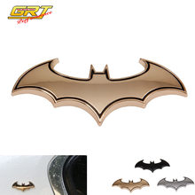 GRT - 3D Cool Metal Bat Auto Logo Car Styling Car Stickers Metal BatMan Badge Emblem Tail Decal Motorcycle Car Accessories(China)