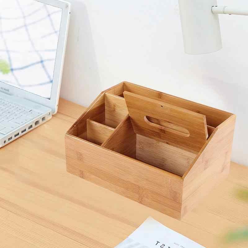 Многофункциональный тканевый ящик инновационный бамбуковый Настольный журнальный столик пульт дистанционного управления контейнер для хранения, для ванной держатель бумажных салфеток