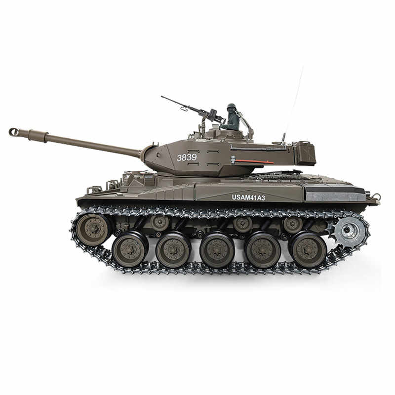 Heng largo 1/16-3839-1 2,4G Wacker BulldogRadio RC tanque de batalla de los Estados Unidos M41A3 para los niños de control remoto tanque de juguete de regalo para K