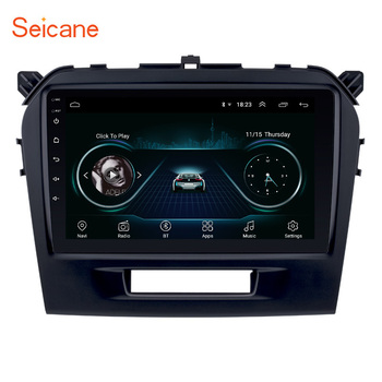 Seicane Android 9.1 9 Double Din Car Multimedia Player Radio GPS Navigation HD 1080P For 2015 2016 SUZUKI VITARA 3G WIFI image